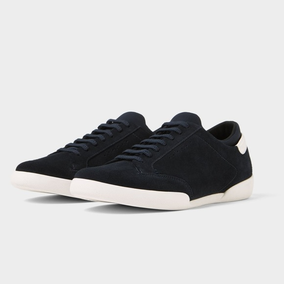 Zara Other - BLUE LEATHER SNEAKERS